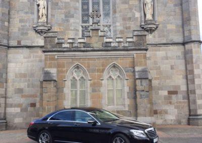 Mercedes Outside Church